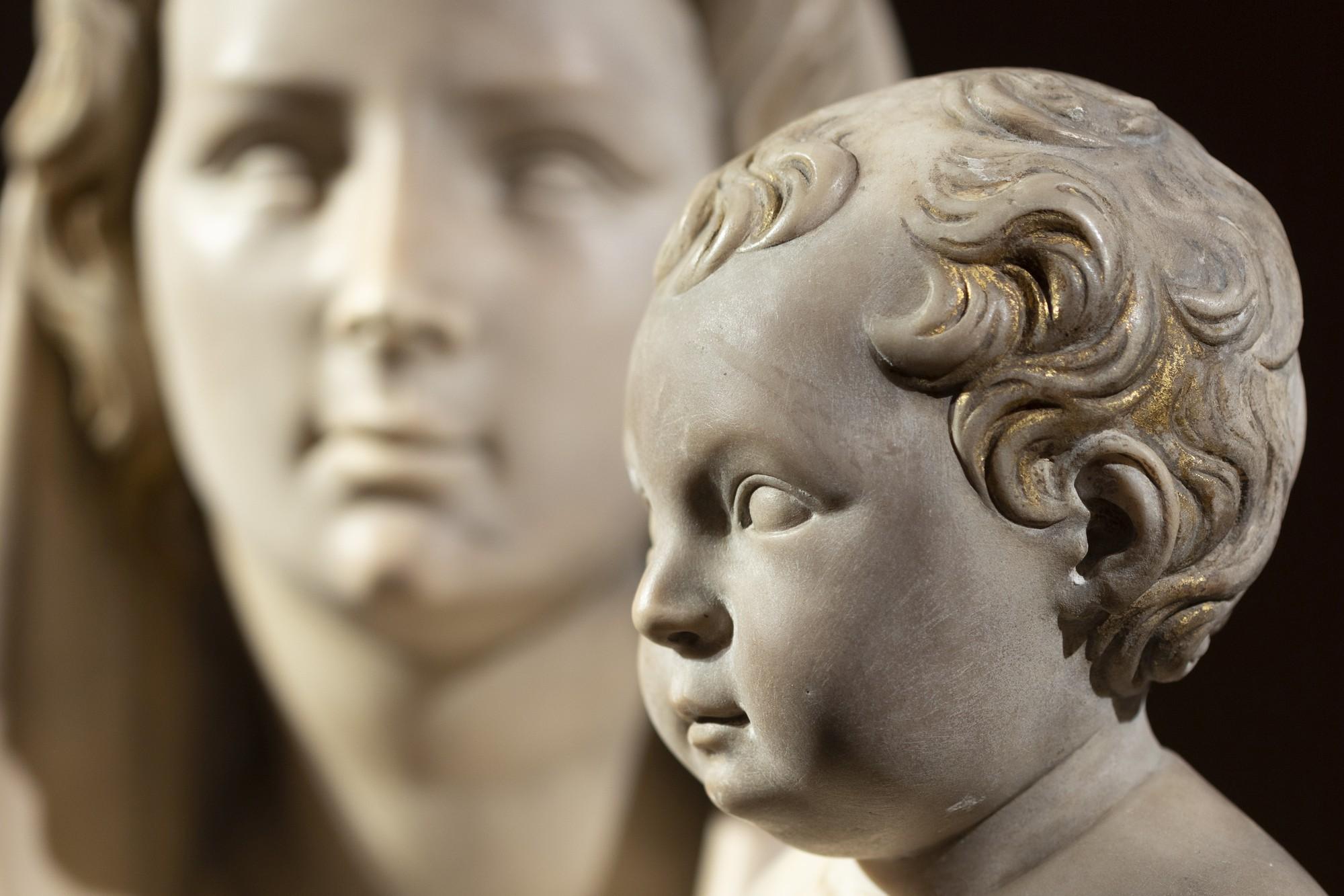 fotografia di opere d'arte: la madonna del melograno, particolare